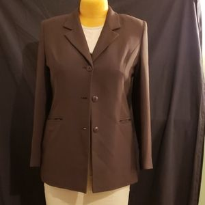 Casual Corner Brown Blazer sz 10